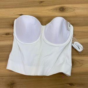 NWT Cupid white corset lingerie top size 38d